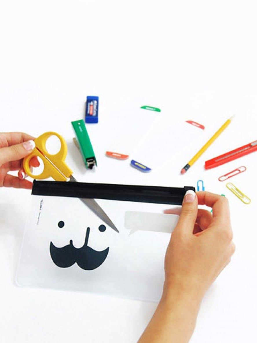 Купить Прозрачный пенал для карандашей и с рисунками усы, null, SheIn