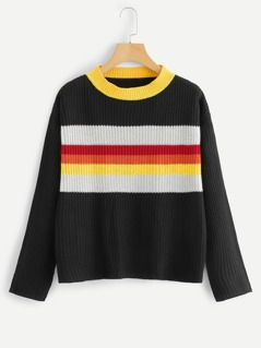 Ringer Neck Color Block Jumper