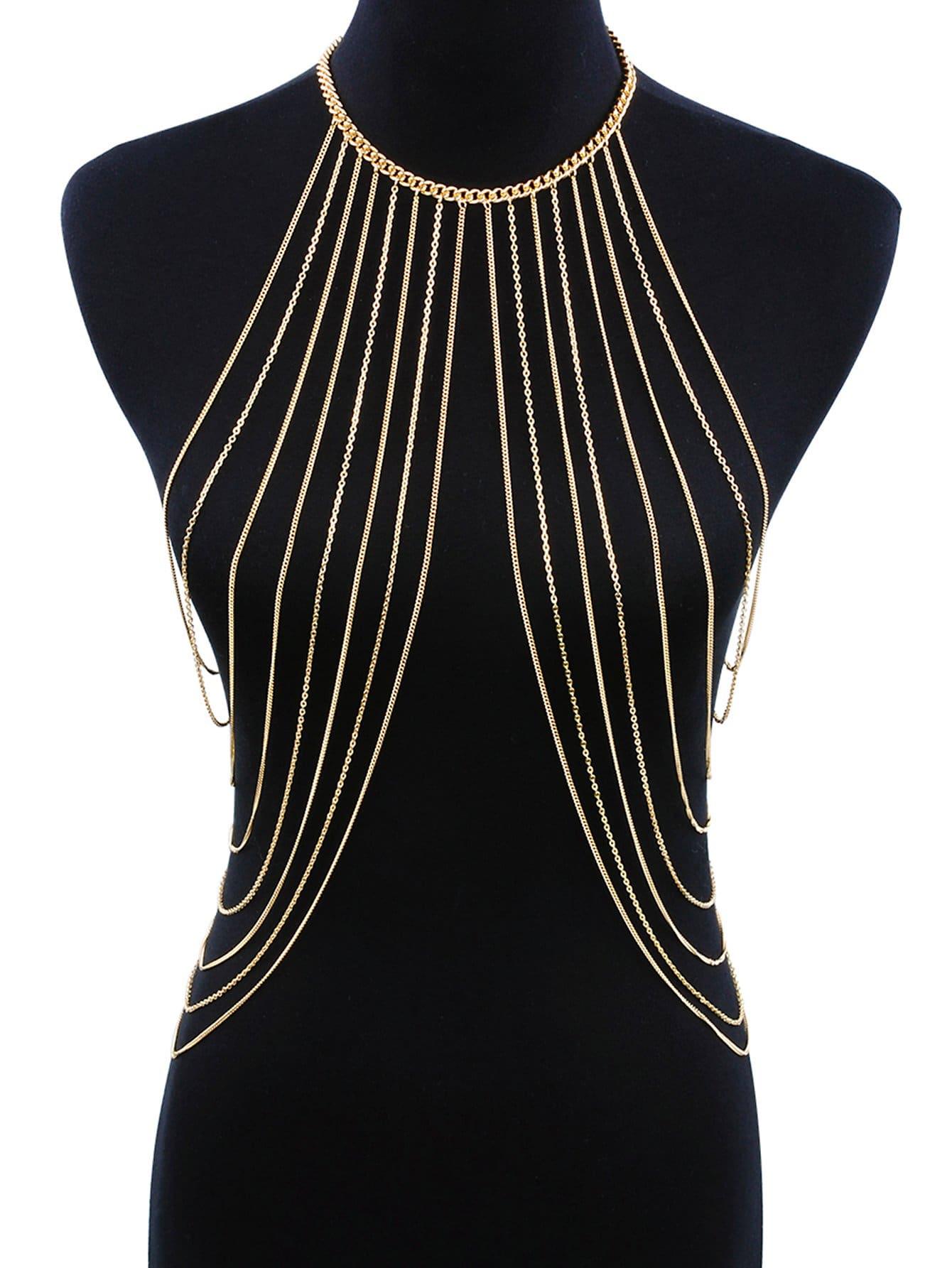 Купить Halter Многослойное ожерелье для тела, null, SheIn