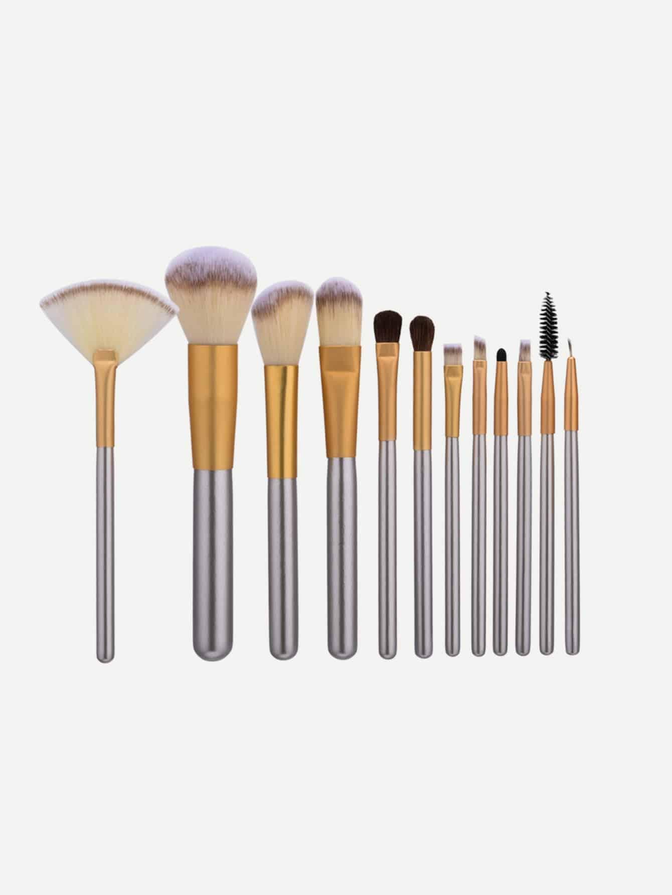 Купить Комплект кистей для макияжа с шампанским Gold 12Pcs, null, SheIn