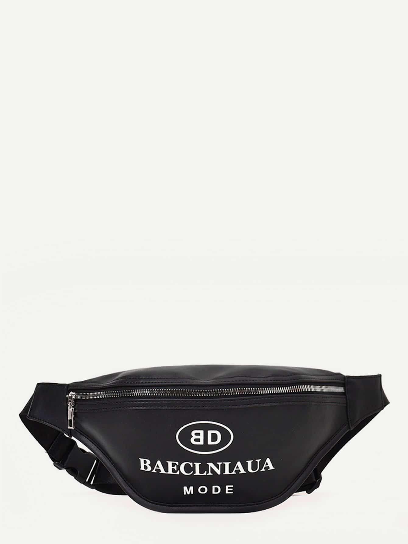 Slogan Print Bum Bag