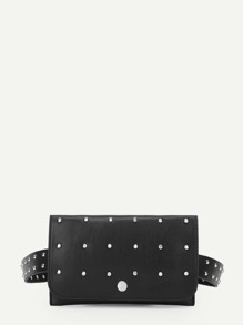 Studded Overlay Bum Bag