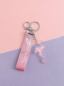 Slogan Tape & Flamingo Bag Charm