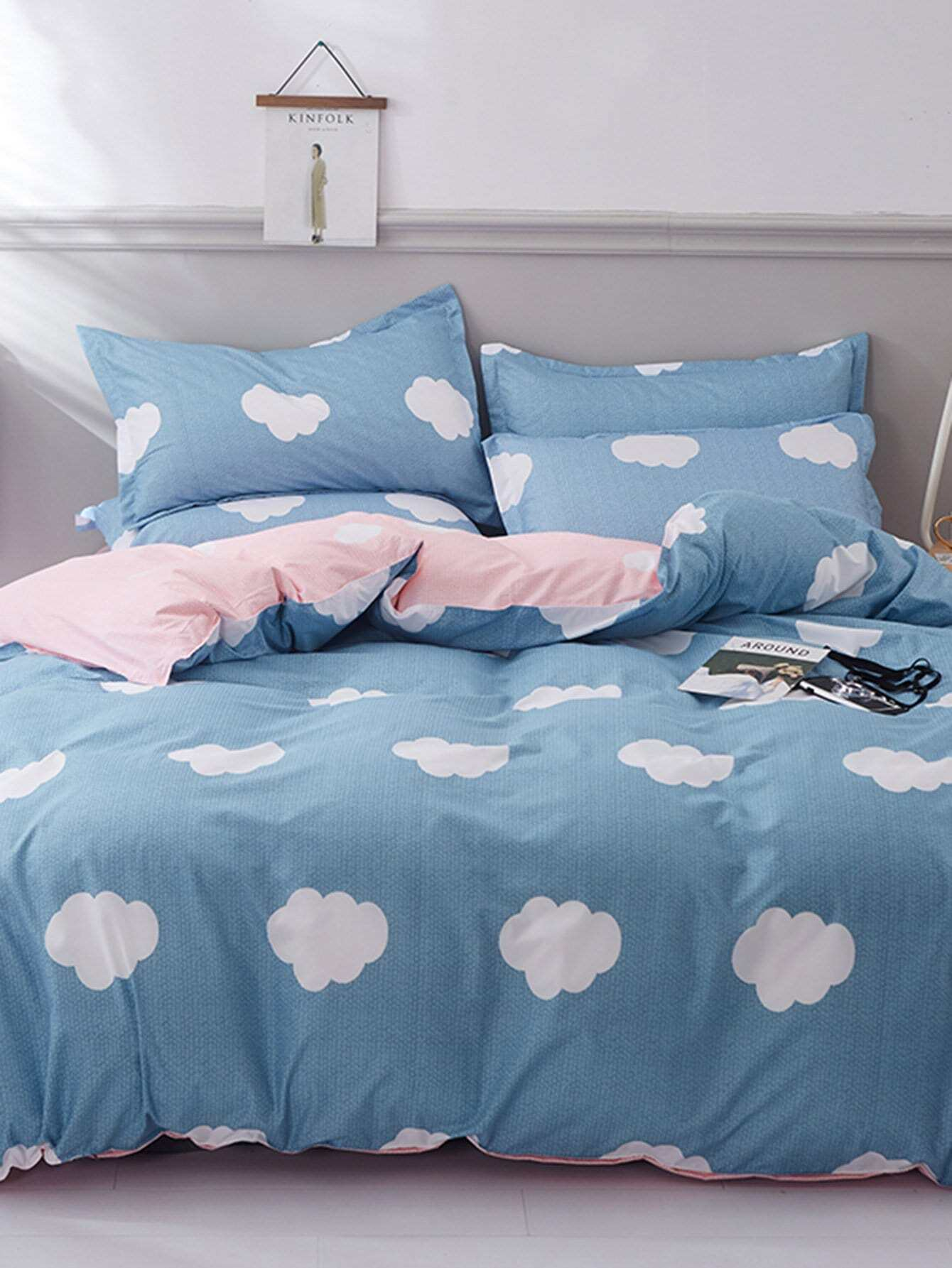 Allover Cloud Print Sheet Set