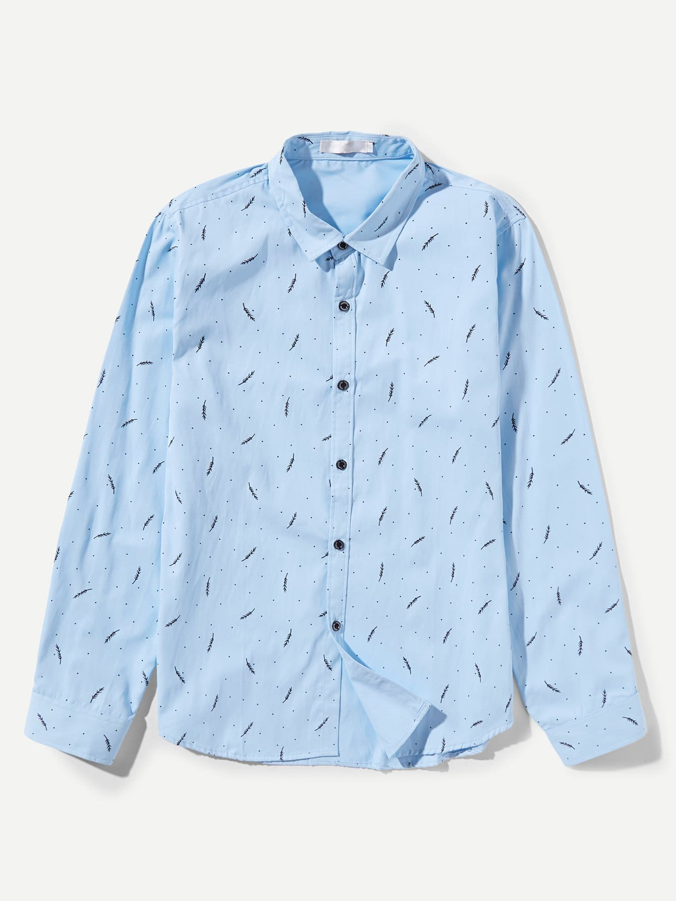 Men Feather Print Shirt li ning men s ln humble glory classical fashion leisure shoes agcn053 2