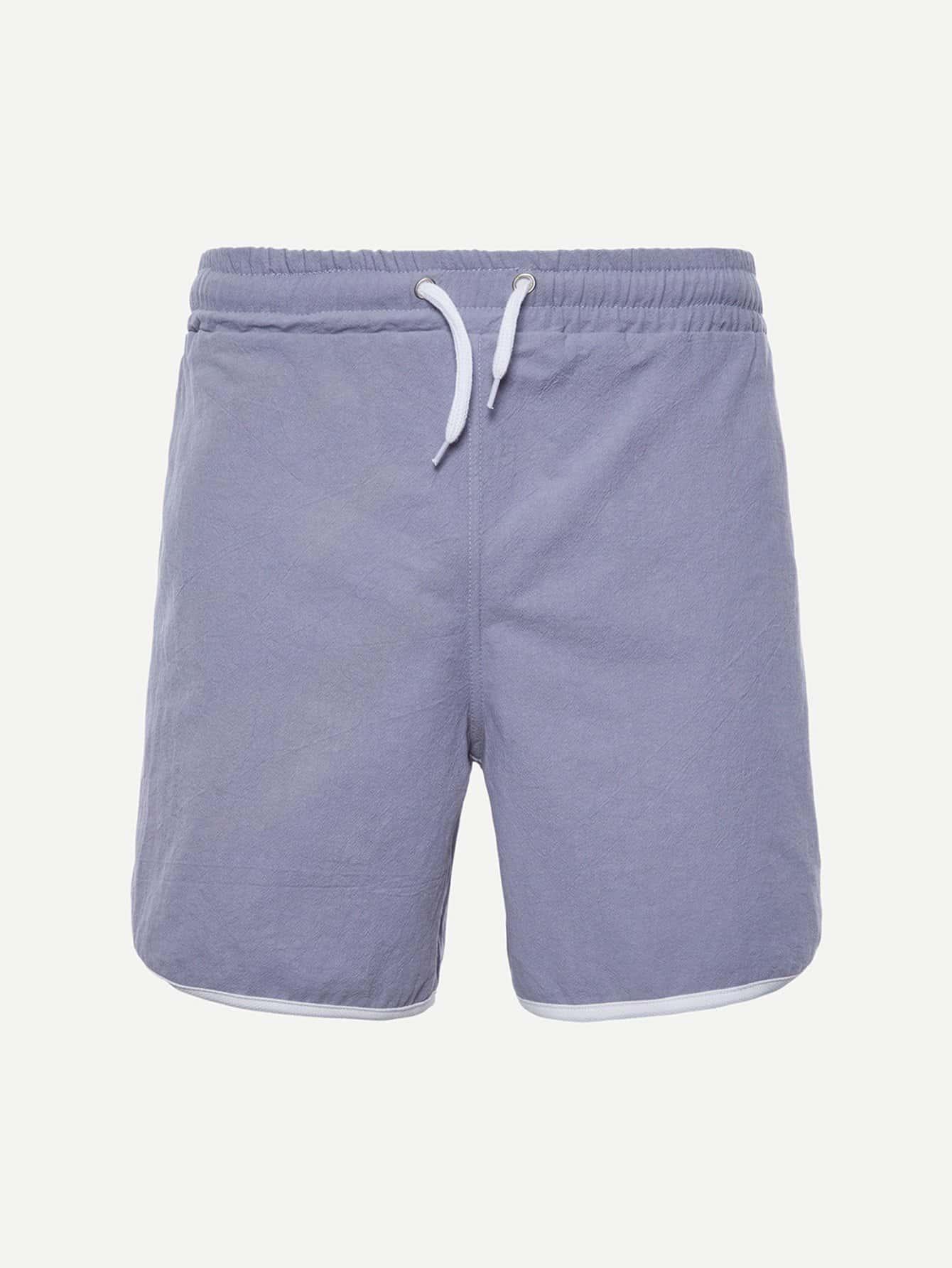Купить Простые шорты и с басоном эластичным для мужчины, null, SheIn