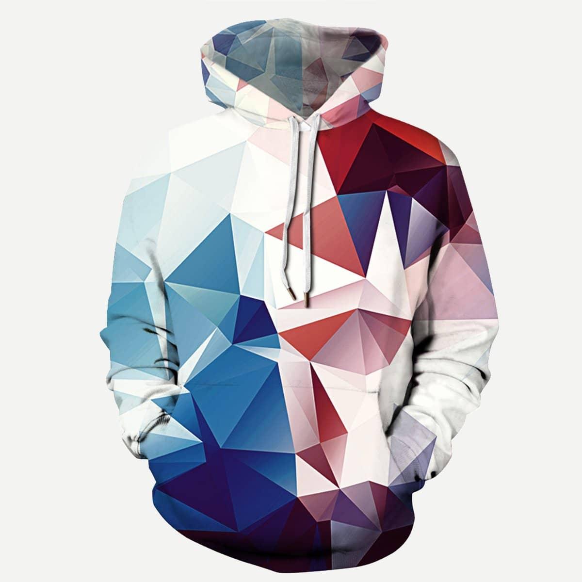 Hoodie met geometrische print