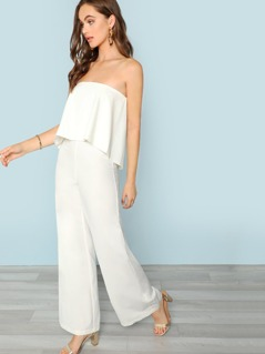 Layered Bodice With Back Cutout Jumpsuit