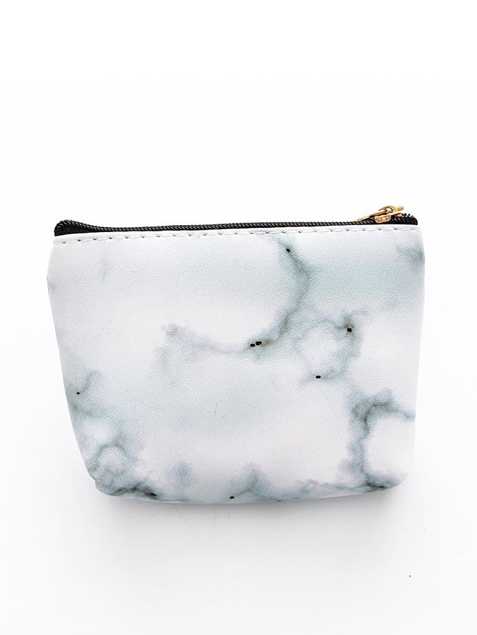 Marble Pattern Print Coin Purse