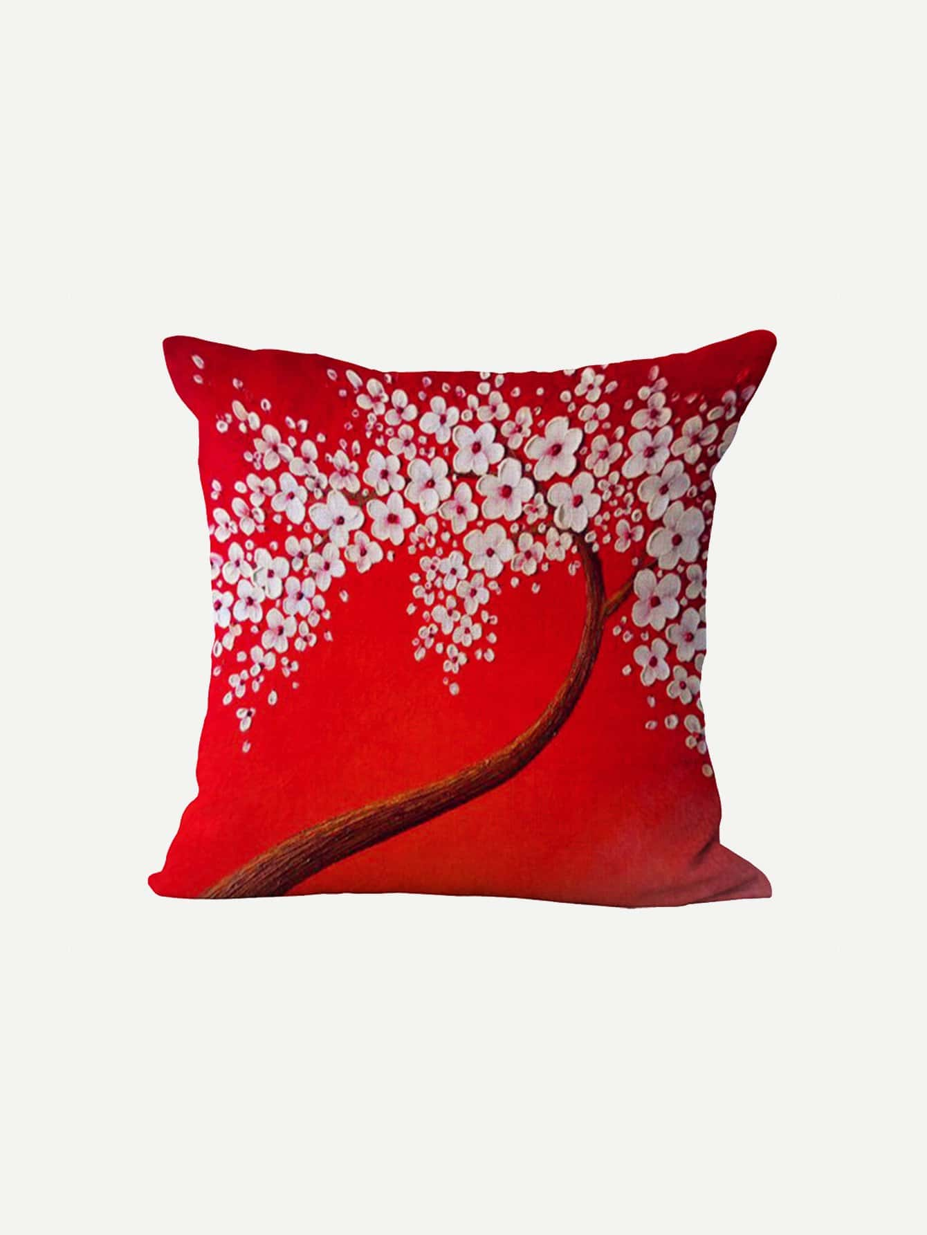 3D Blumen Gemälde Kissenbezug