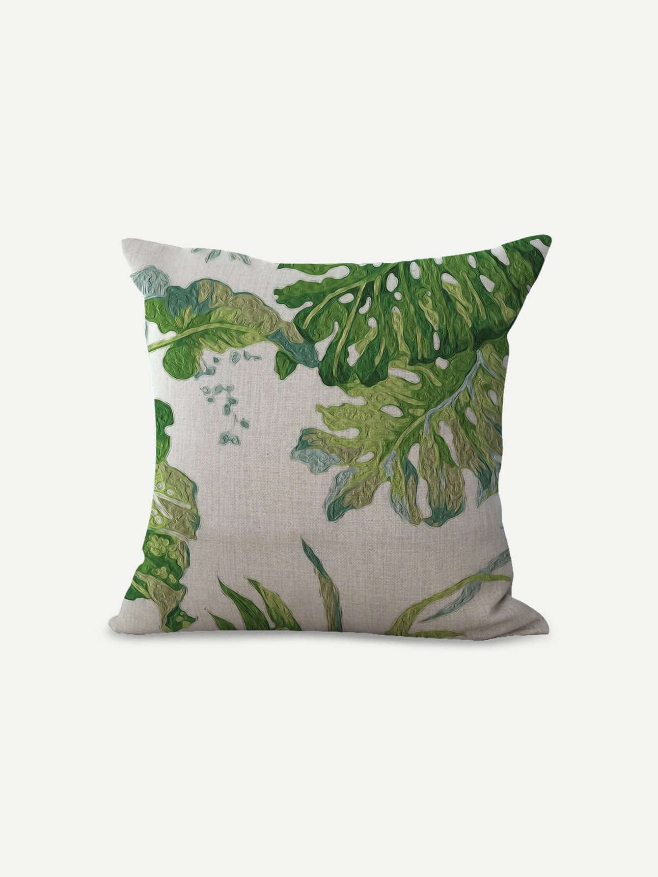 Tropical Leaves Print Pillowcase tropical leaves drop earrings