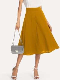Slant Pocket Side Circle Skirt