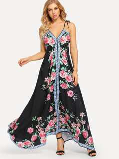 Flower Print Cami Dress