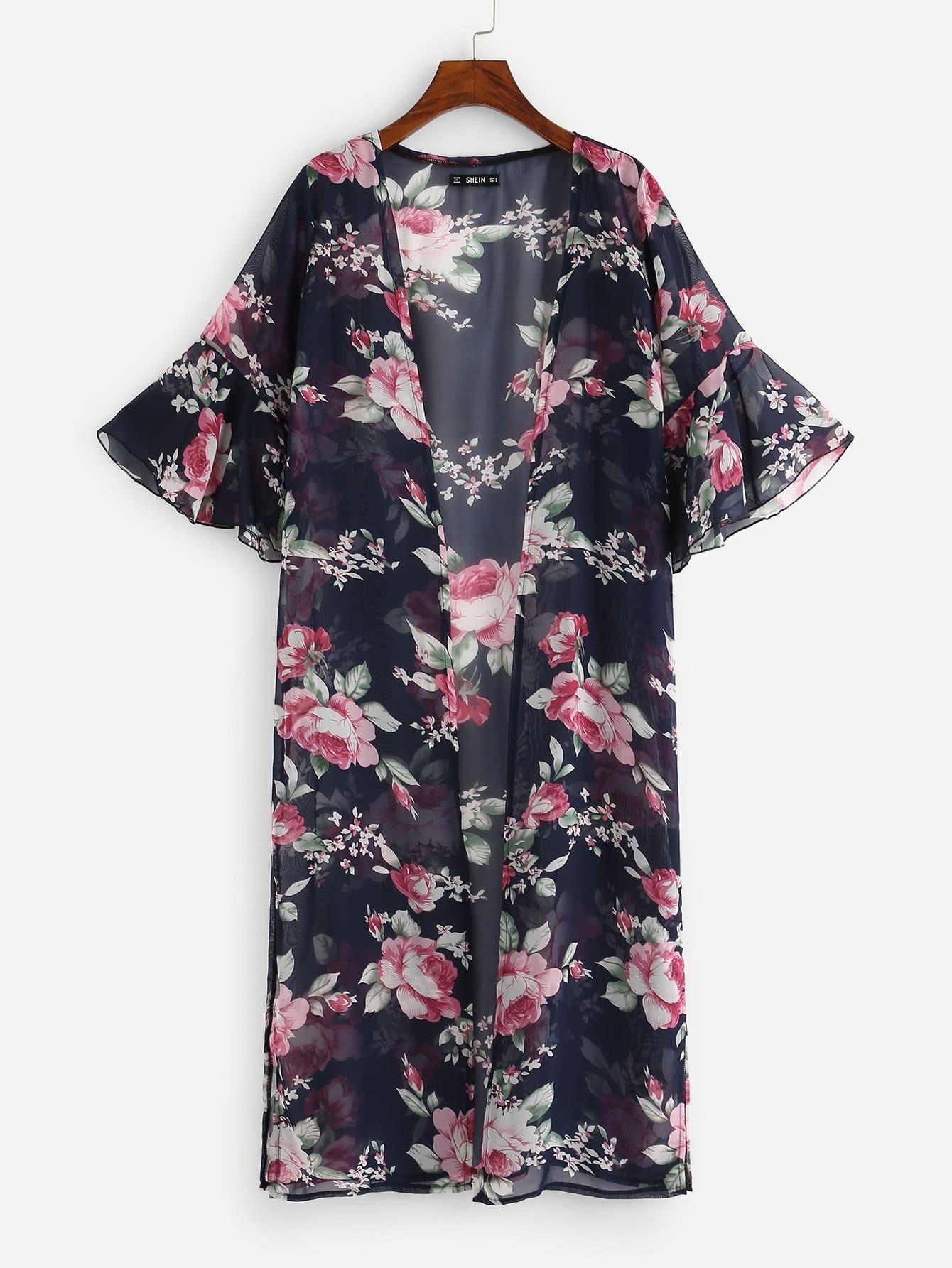 Купить Кимоно с коротким рукавом, null, SheIn