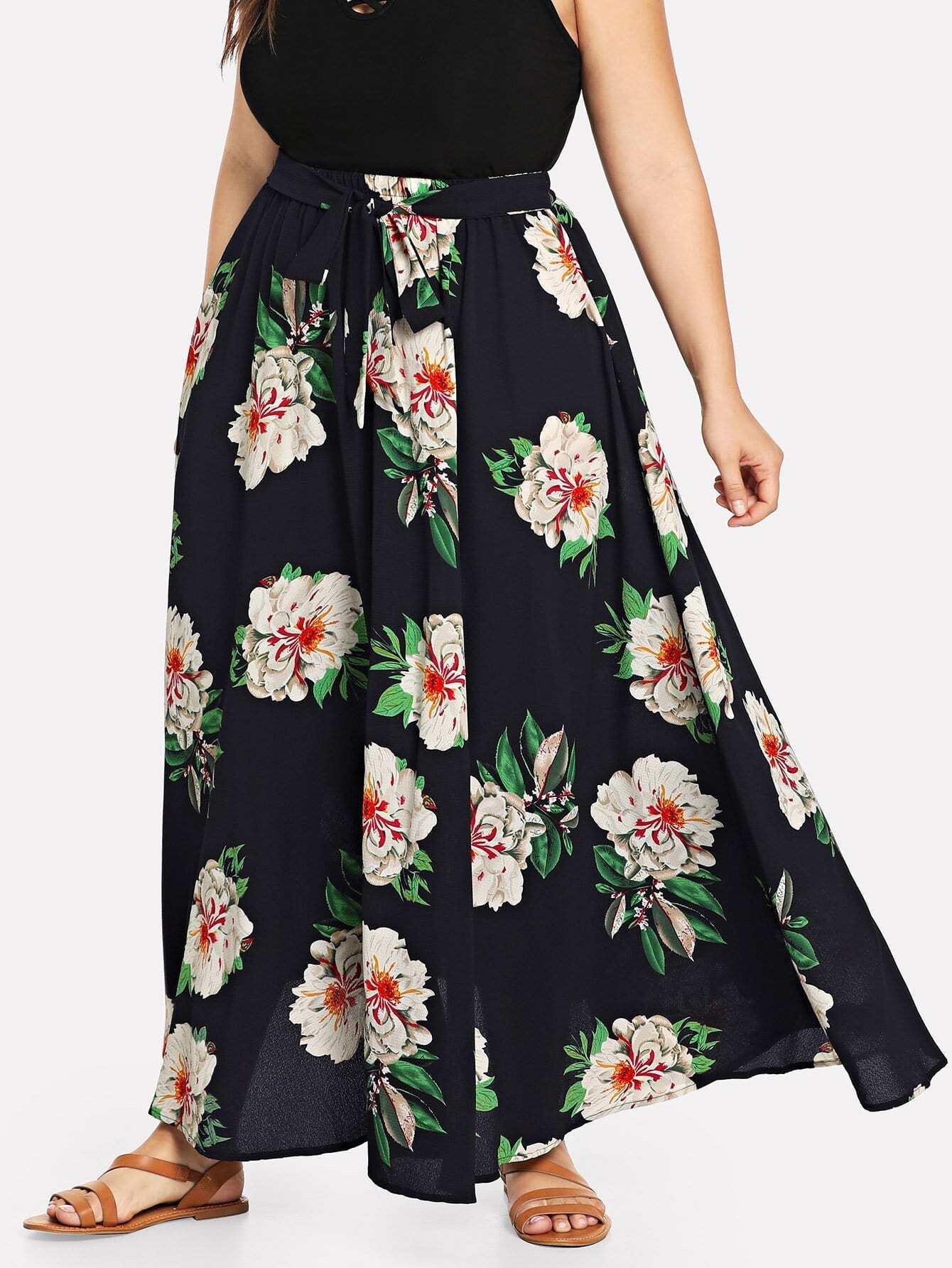 Купить Полосатая полосатая полосатая юбка, Franziska, SheIn