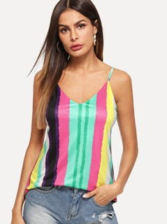 Colorful Striped Cami Top