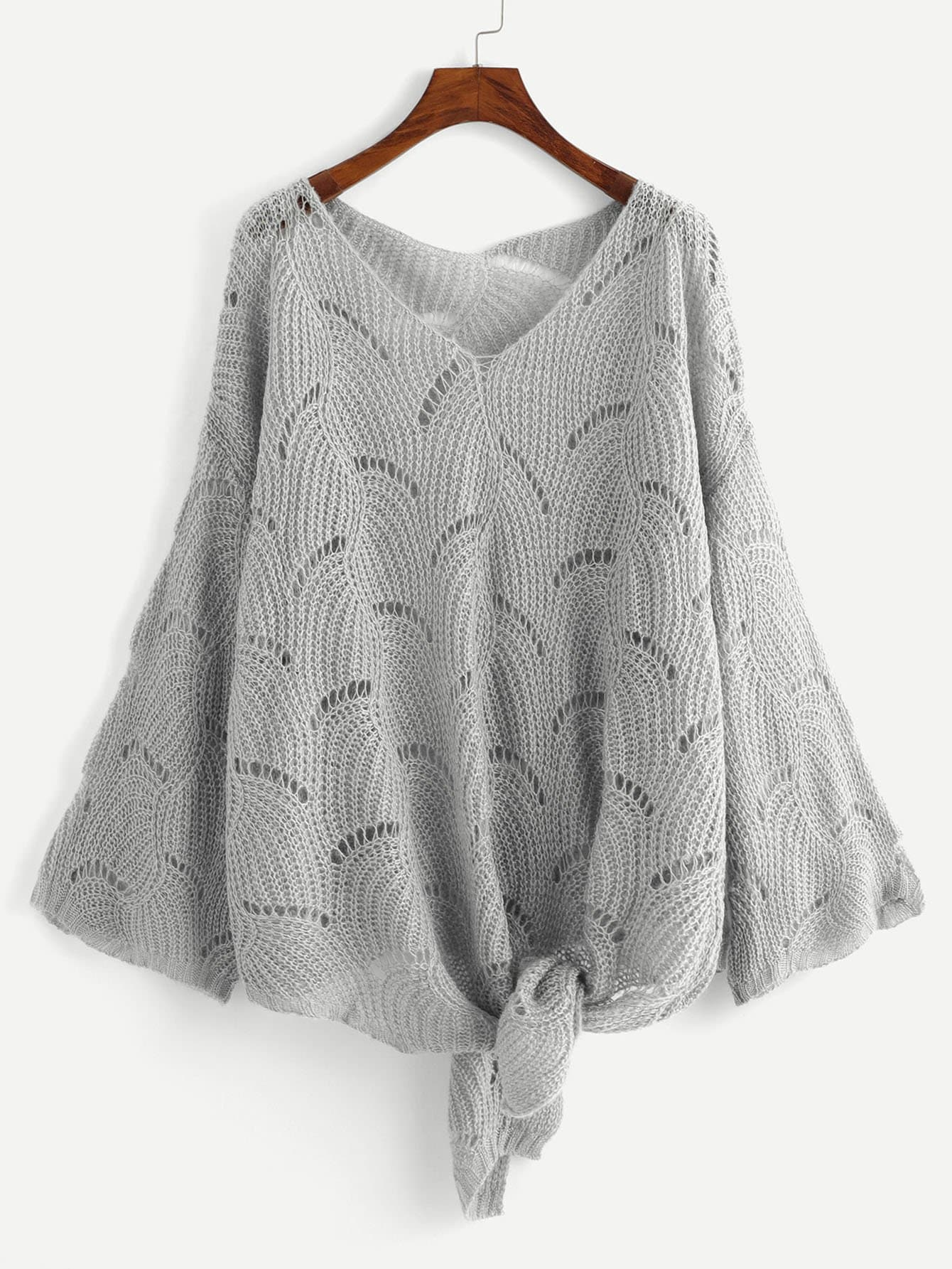 Плюс Loose Knit Knot Sweater