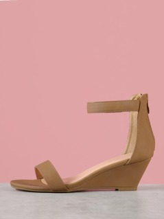 Single Band Ankle Strap Wedge Sandal
