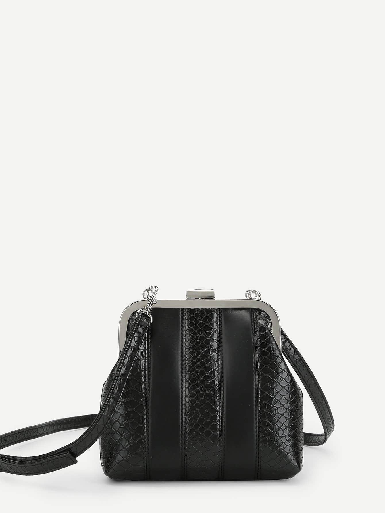 все цены на Crocodile Embossed Crossbody Bag онлайн