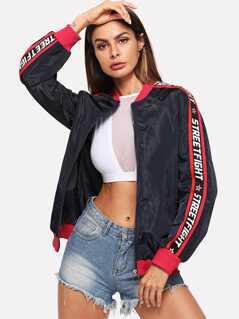 O-Ring Zip Up Letter Side Jacket