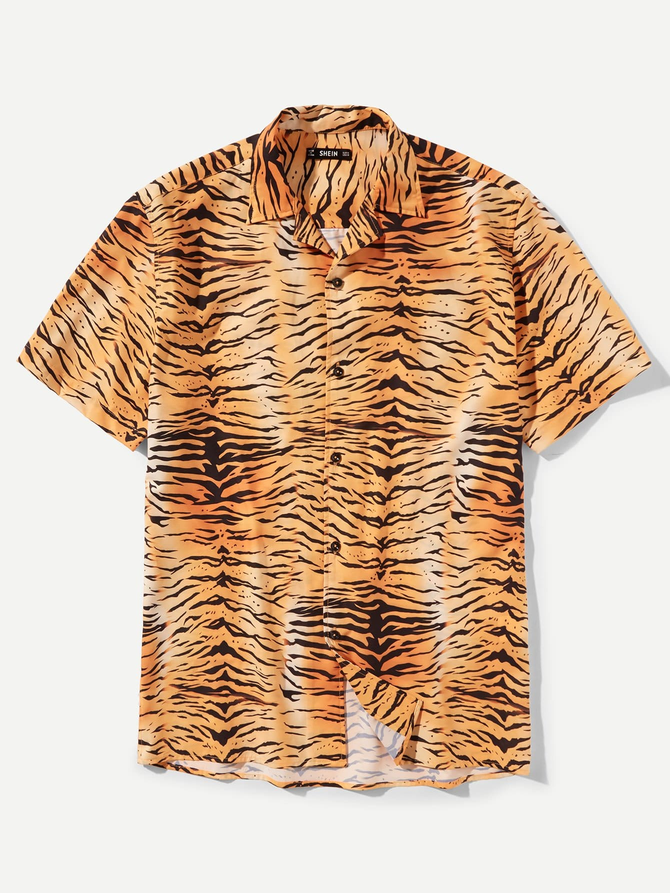 Купить Футболка с рисунком тигра и с короткими рукавами для мужчины, null, SheIn