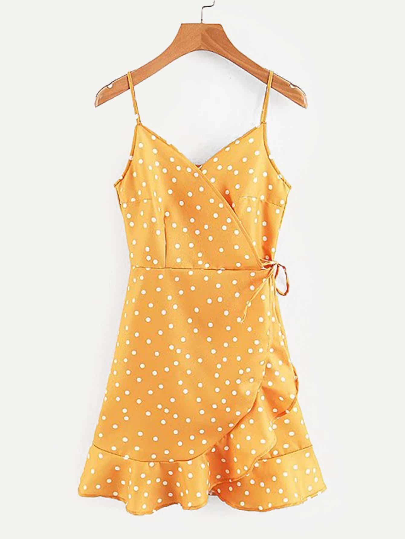 Купить Облегающое платье и с кружевными оборками, null, SheIn