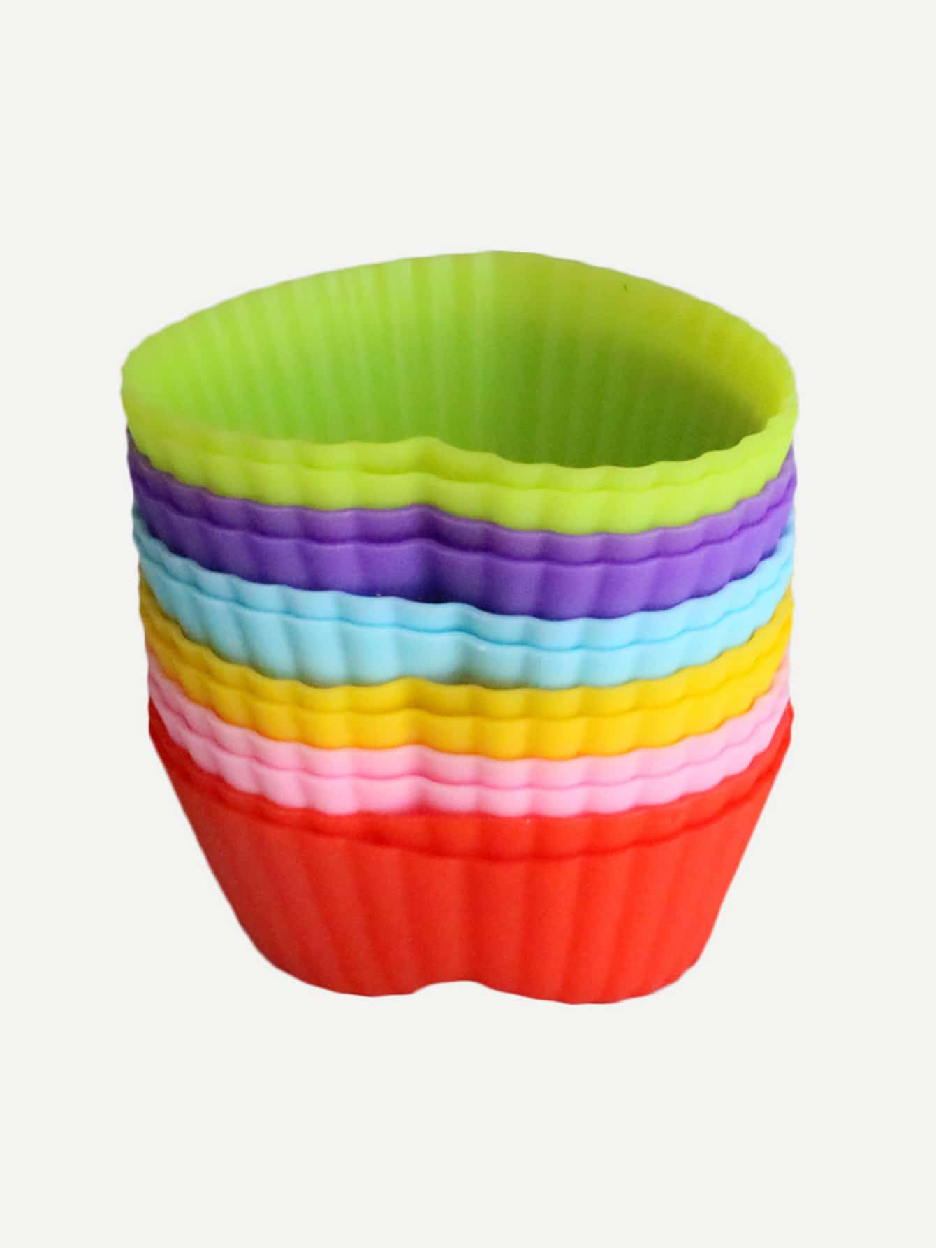 Random Color Heart Shaped Muffin Baking Cup