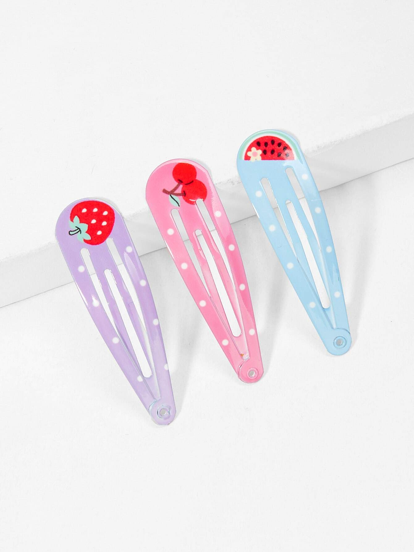 Купить Hair Fruit Pattern Hair Clip 3pcs, null, SheIn