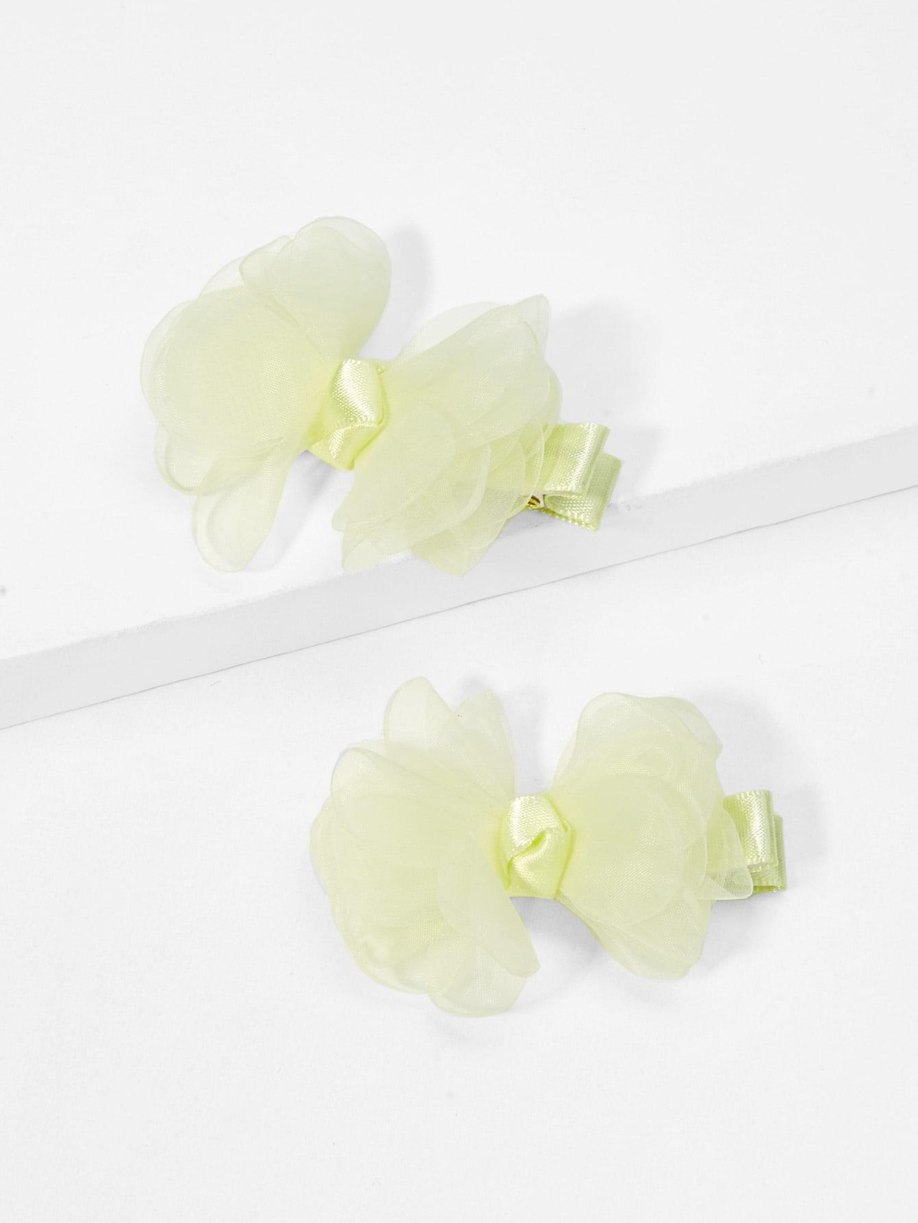 Купить Заколка для волос и с украшением бабочки 2 шт для девочки, null, SheIn