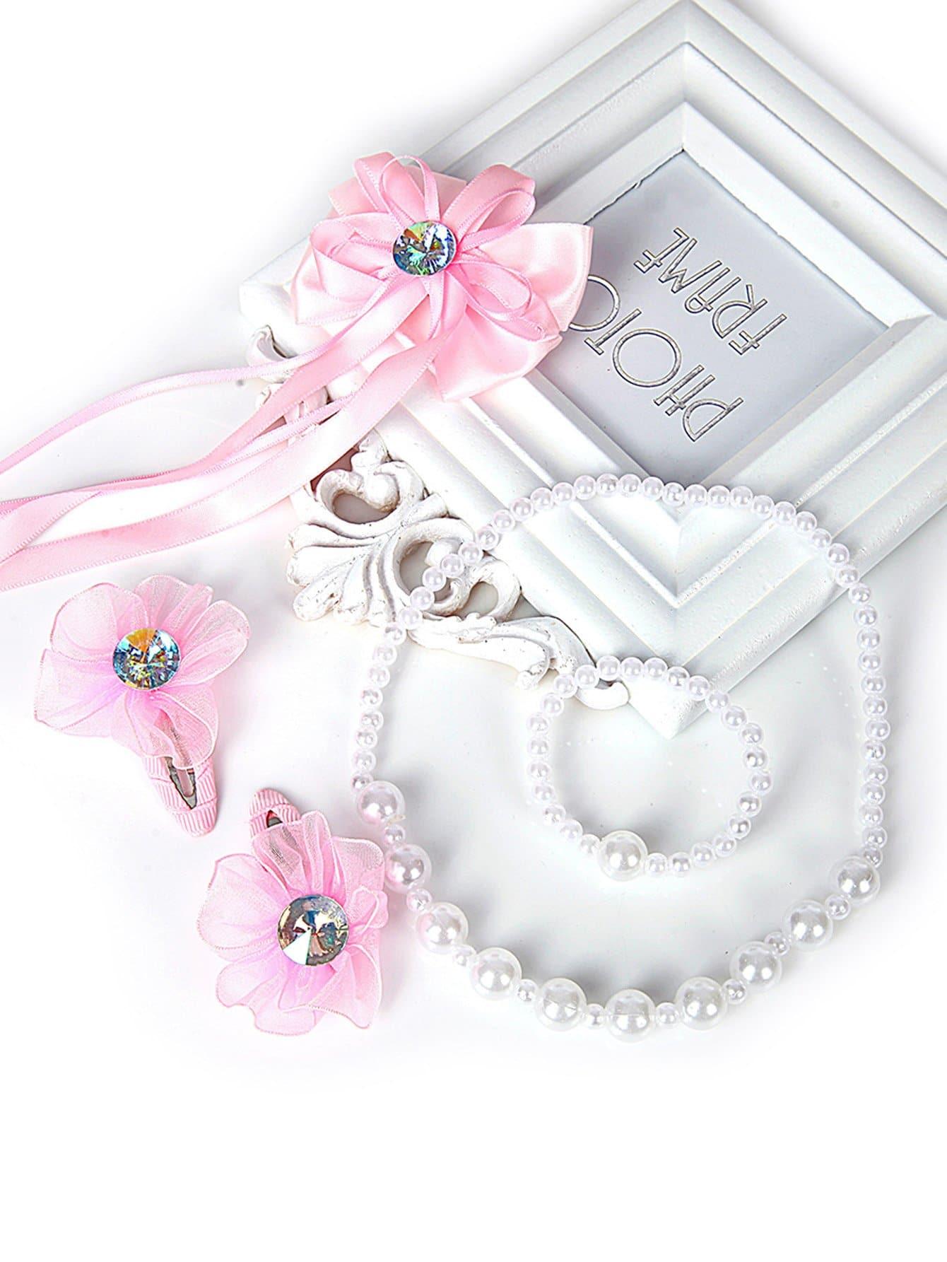 Купить Зажим для волос & ожерелье & браслет 5pcs, null, SheIn