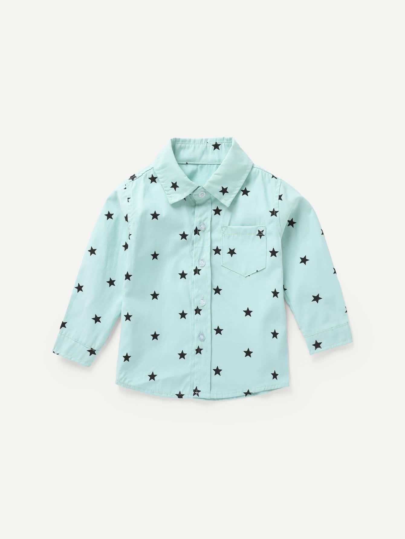 Boys Allover Star Print Shirt