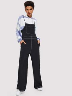 Pocket Front Wide Leg Jumpsuit