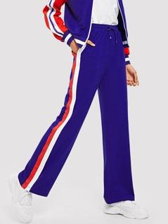 Striped Zip Side Sweatpants