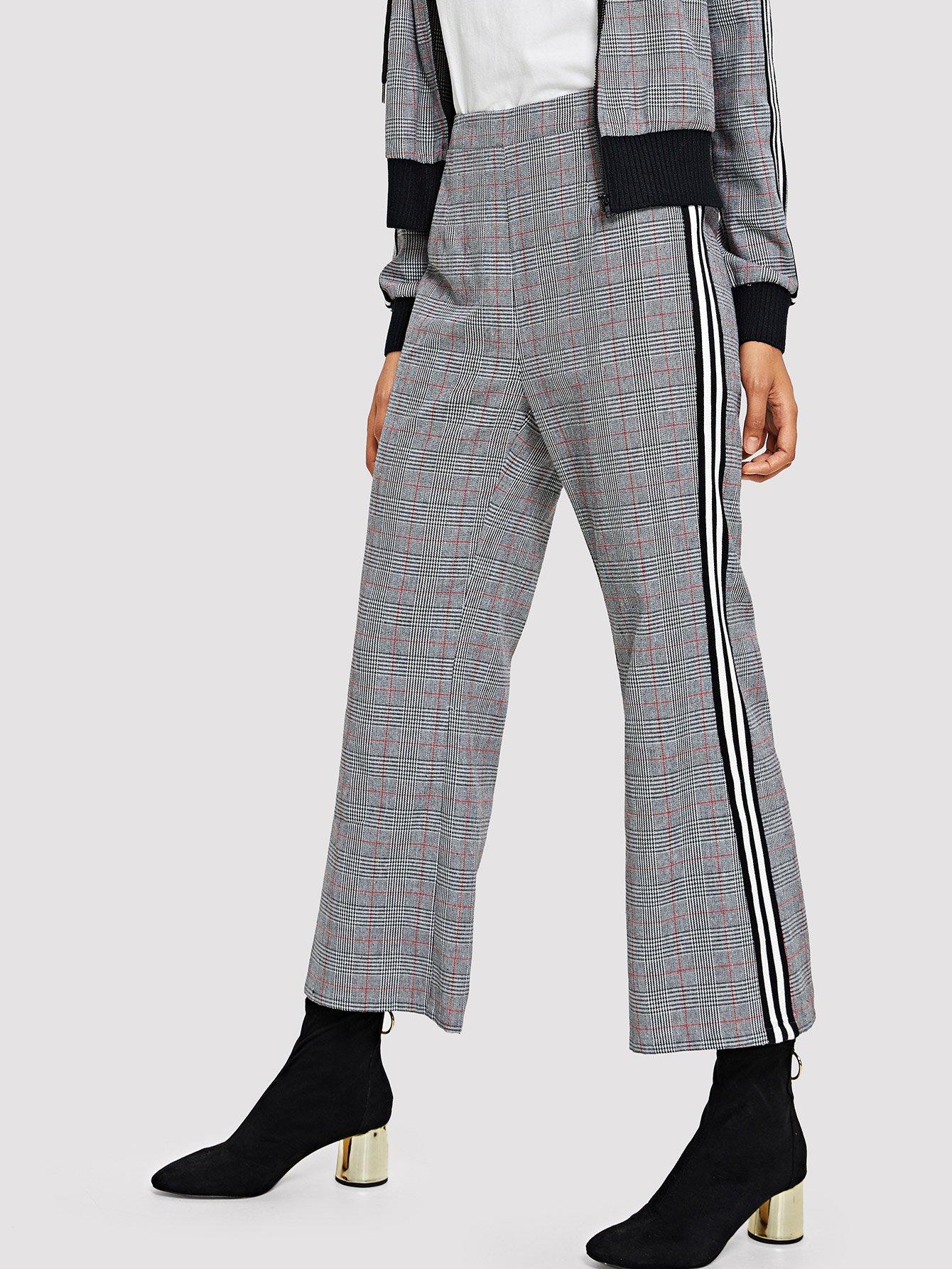 Купить Полосатые штаны с эластичной талией, Hannah Mavestrand, SheIn