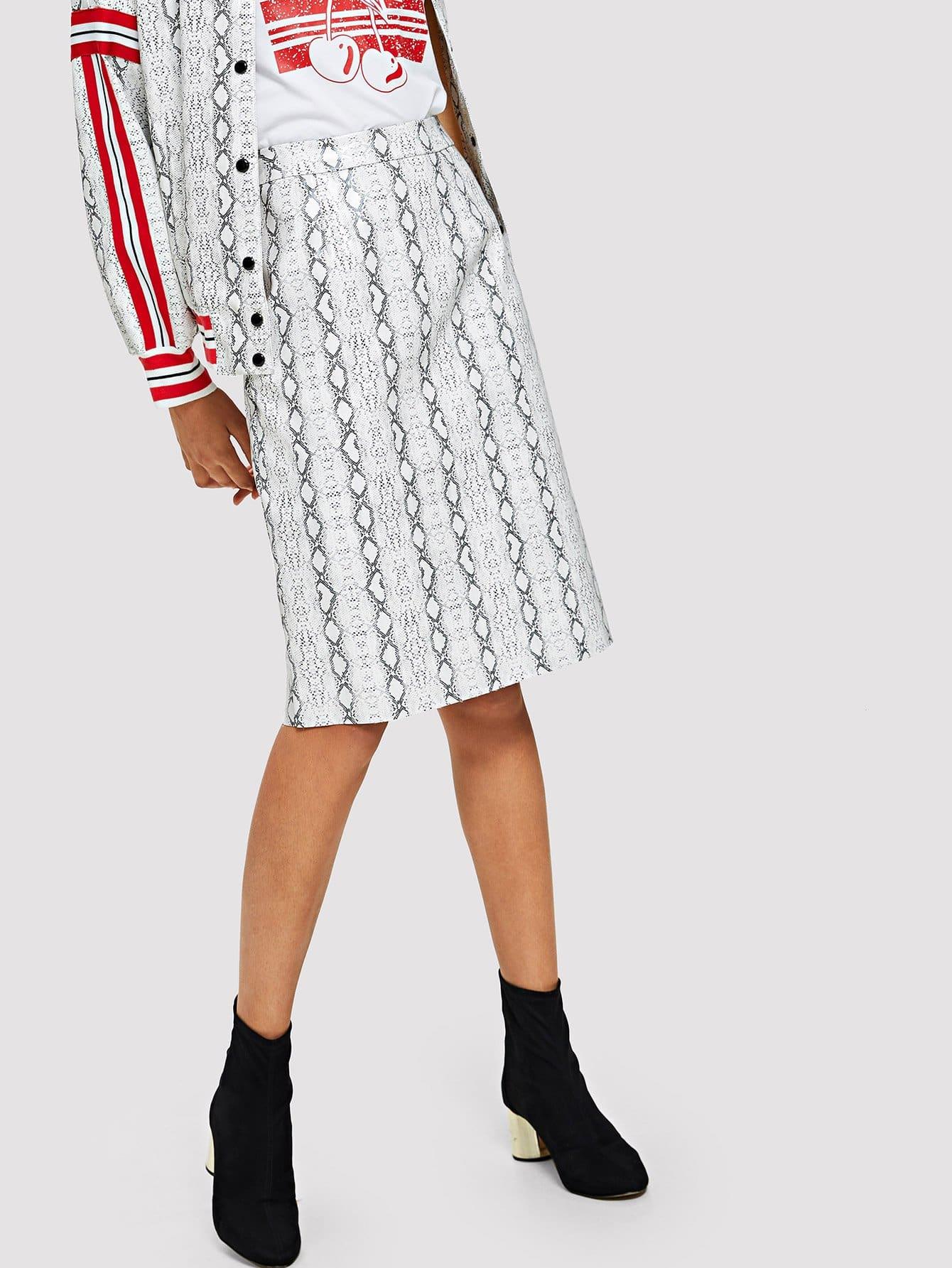 Купить Щелевая юбка Stripe & Snake, Hannah Mavestrand, SheIn