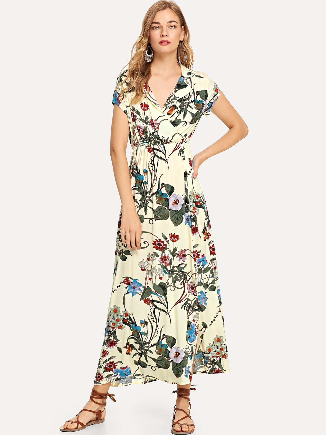Купить Болтовое платье с надрезом, Teresa, SheIn