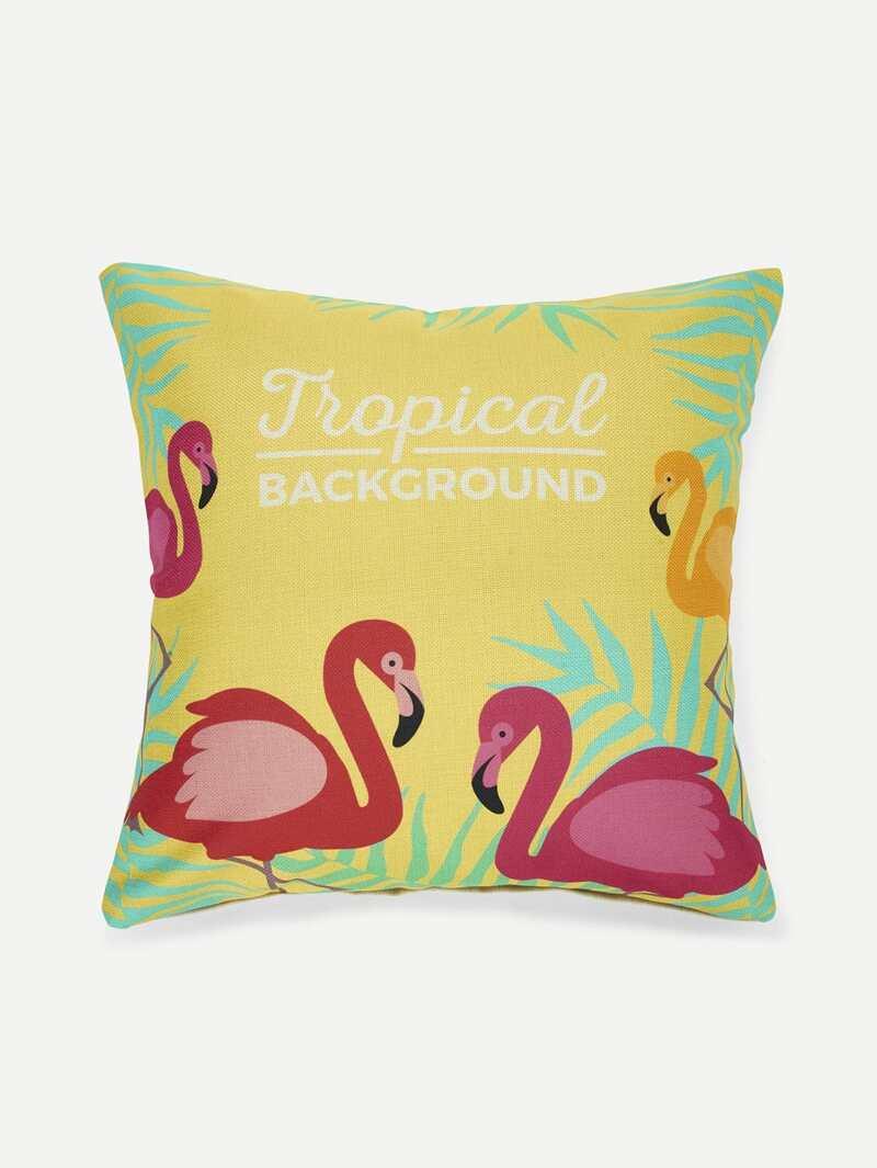 Flamingos Print Pillowcase Cover 1PC, Multicolor