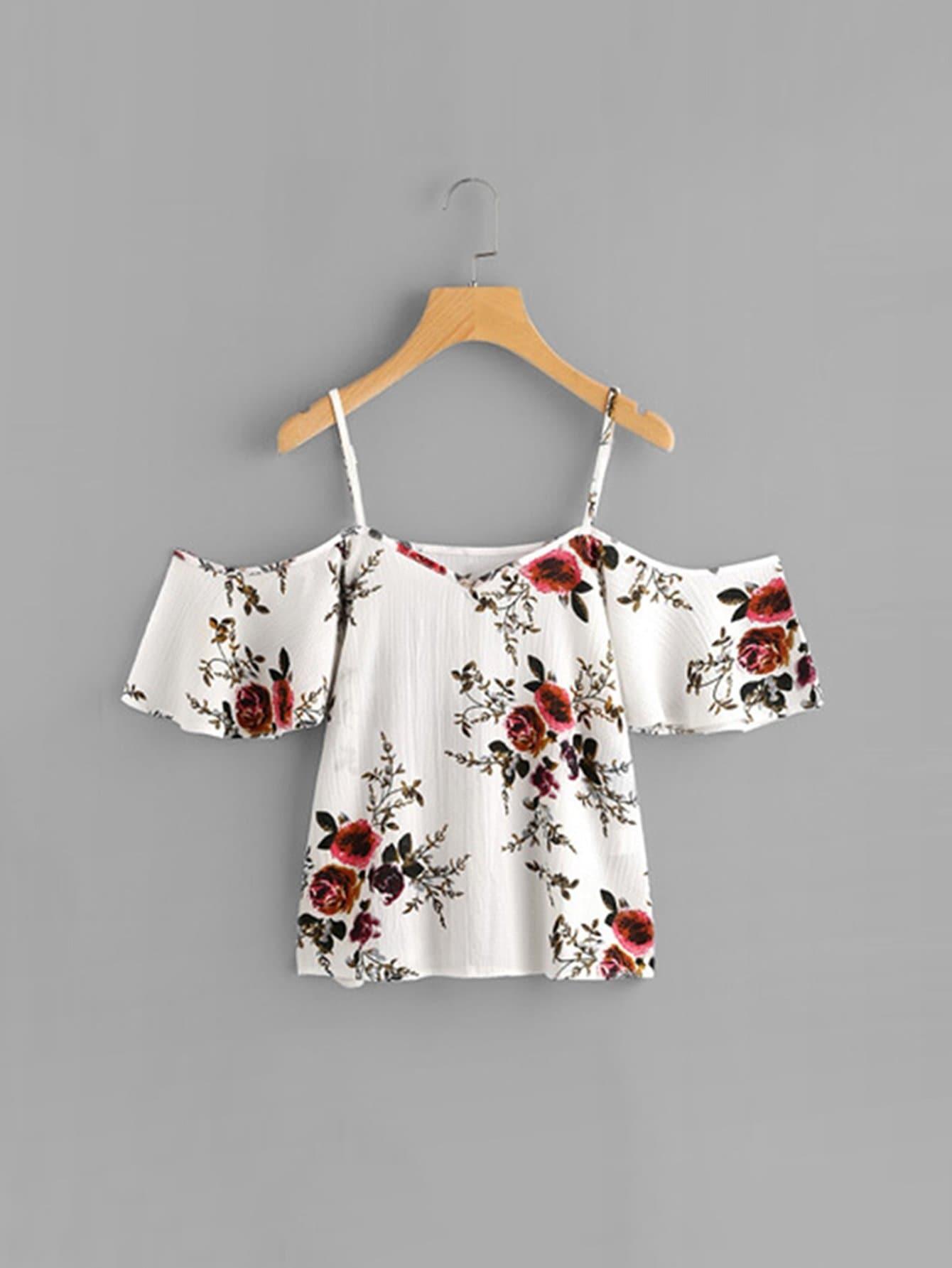 Девочки Цветочный Принт Cami Блуза