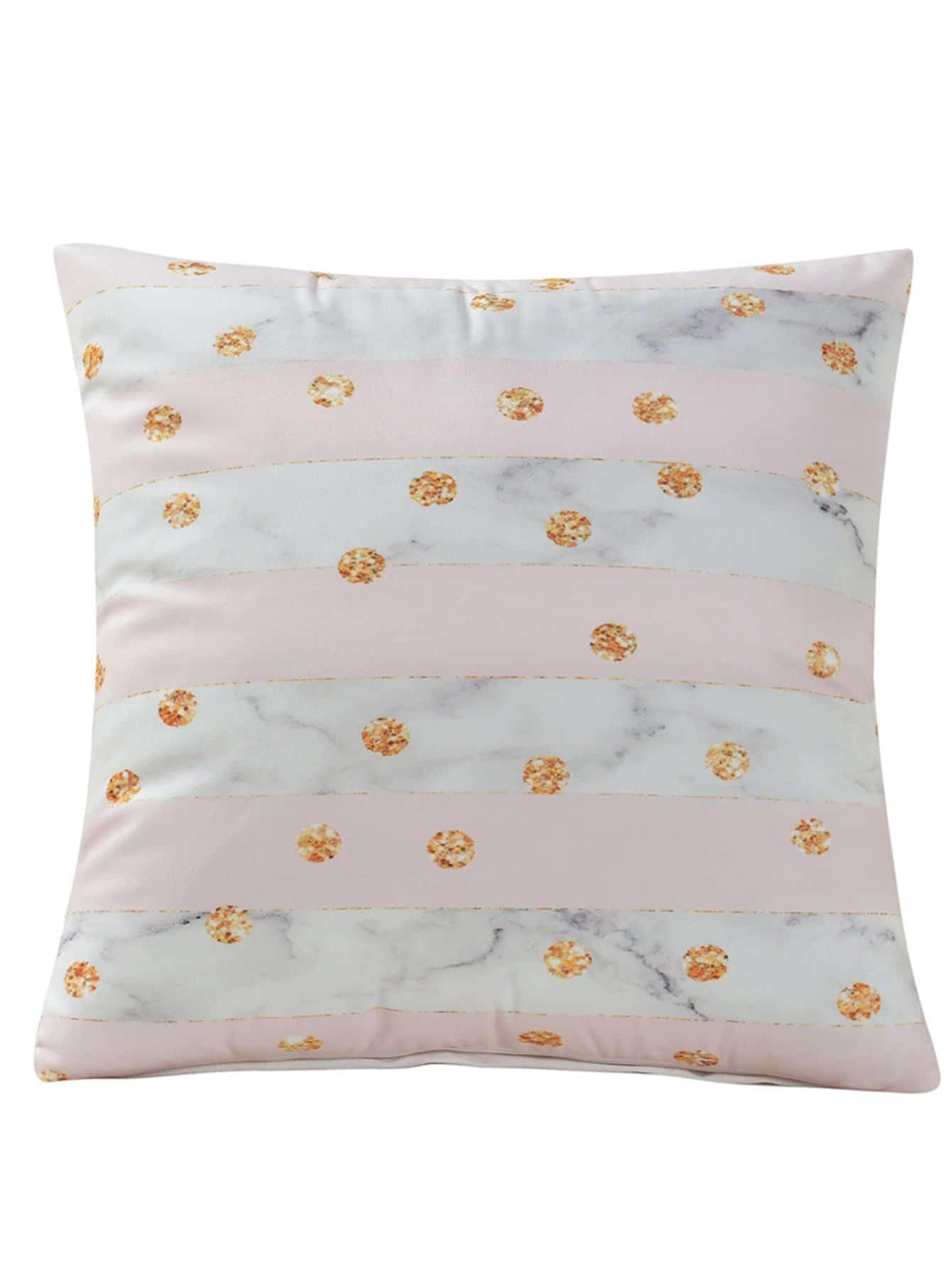 Купить Полосатая и мраморная подушка Чехол 1PC, null, SheIn
