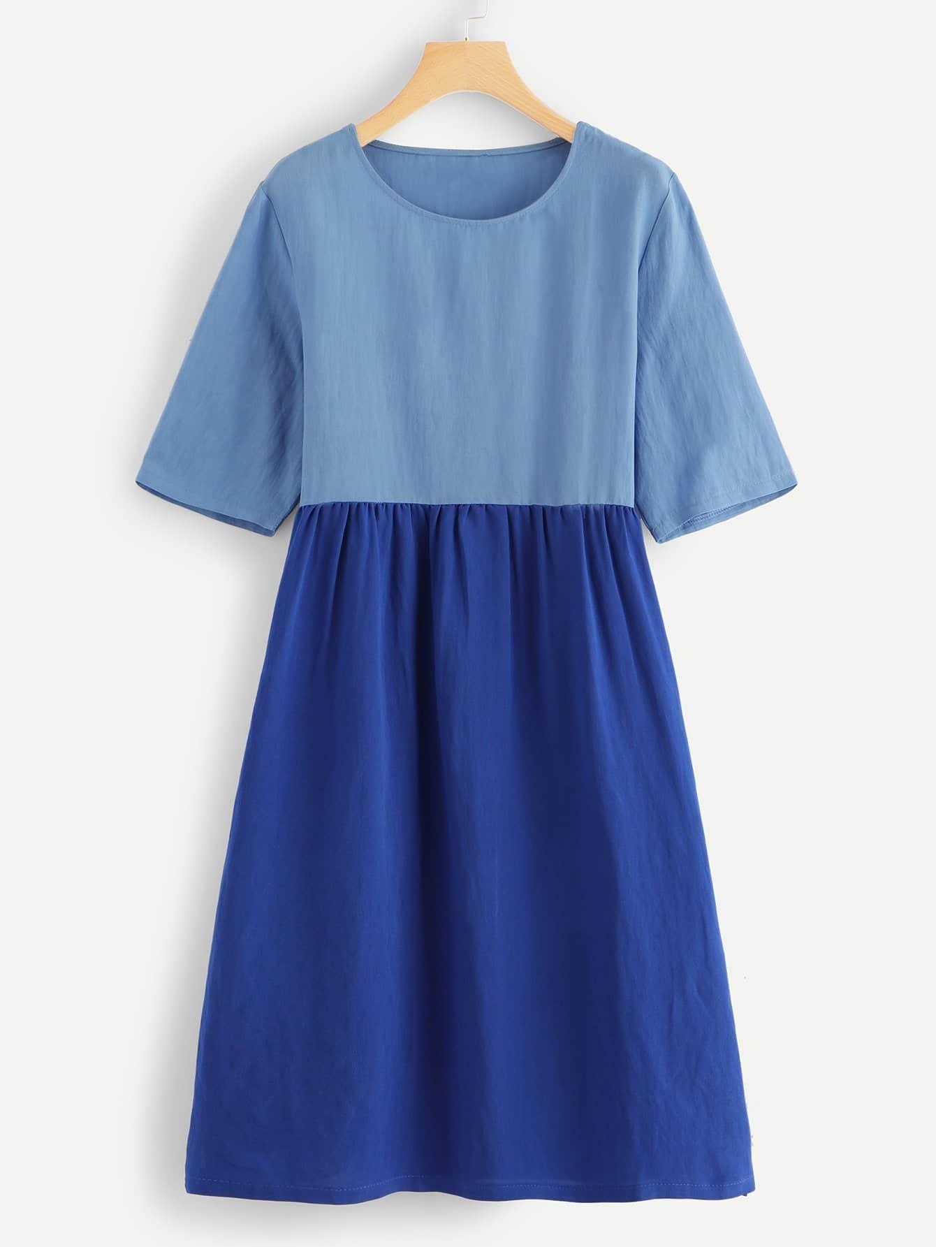 Купить Платье со симметрическими цветами, null, SheIn
