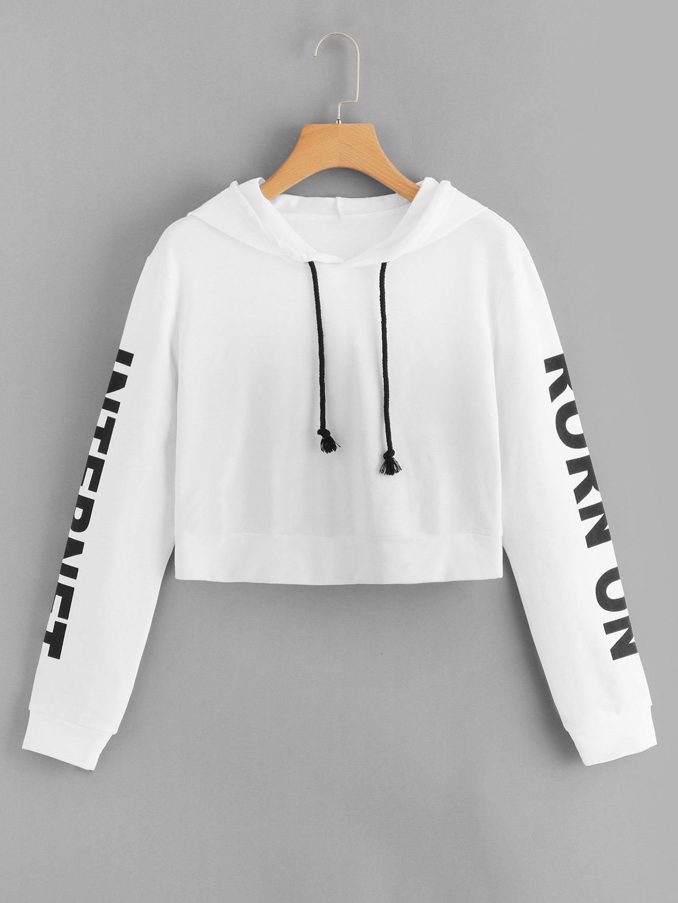 Спортивная футболка и с рисунками буквы, null, SheIn  - купить со скидкой