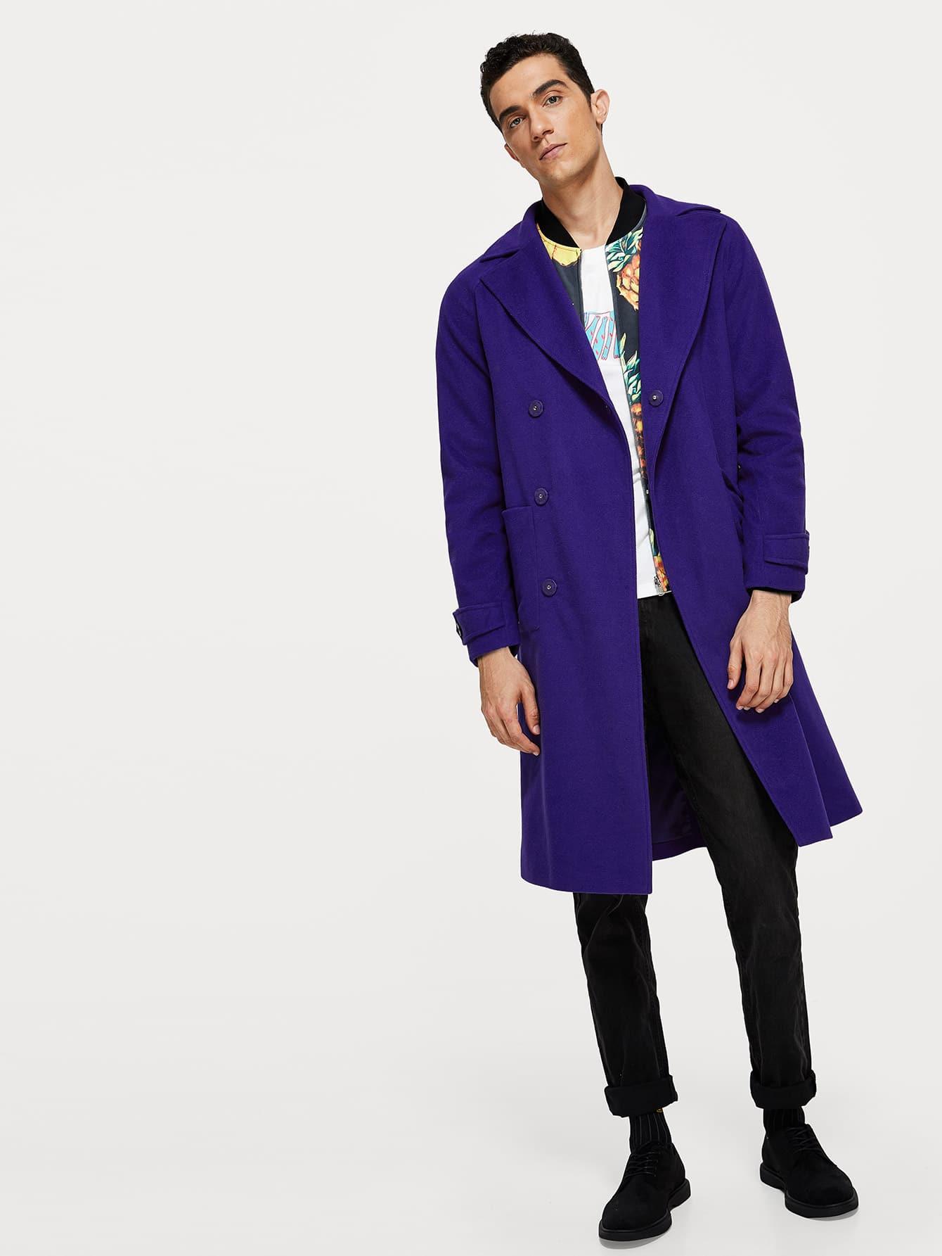 Купить Мужская карманная сторона скрытого пальто, Lucas, SheIn