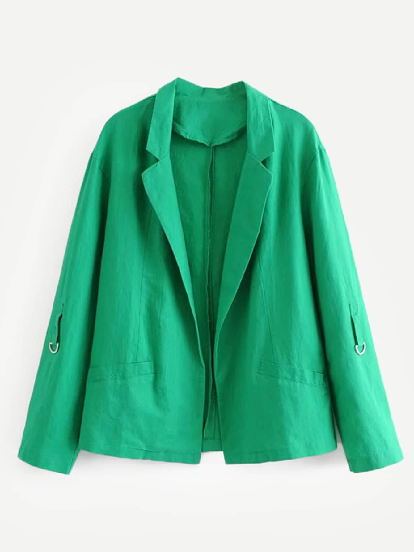 Простой пиджак и ролькими рукавами, null, SheIn  - купить со скидкой
