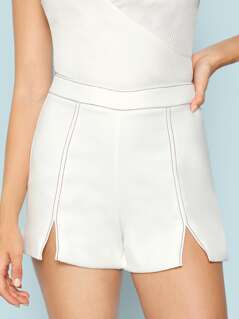 Double Slit Front Shorts
