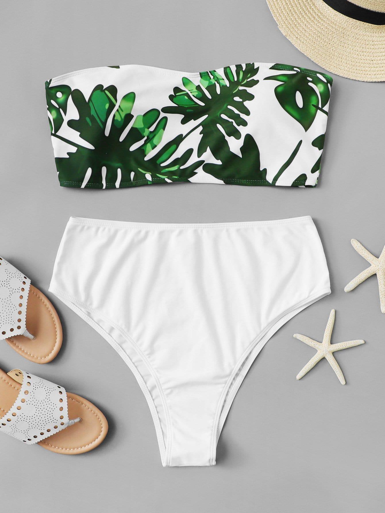 Купить Набор бикини с пальмовым принтом, null, SheIn