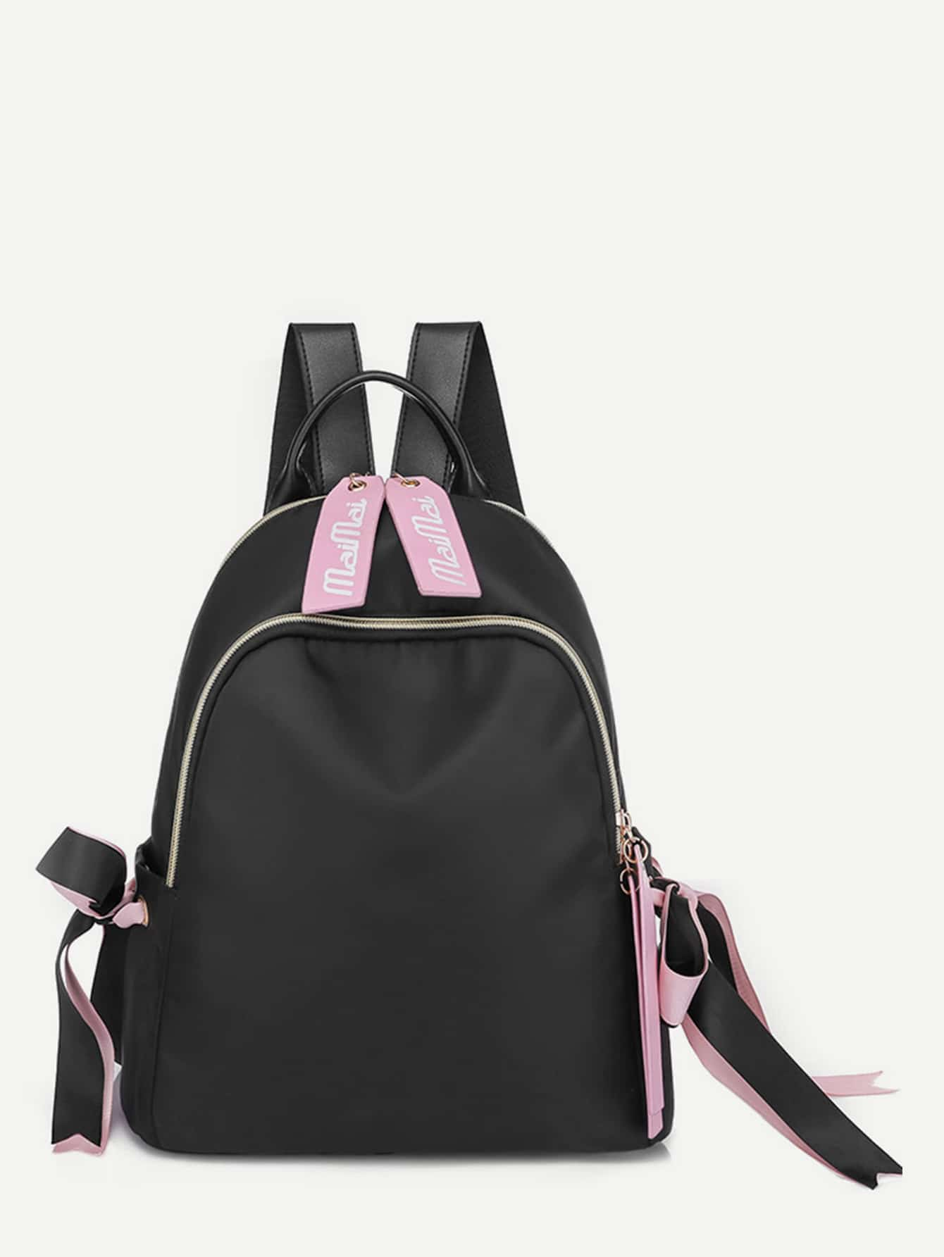 Bow Tie Decor Backpack