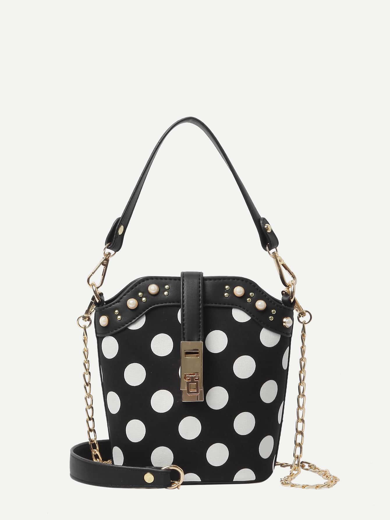 Polka Dot Tote Chain Bag