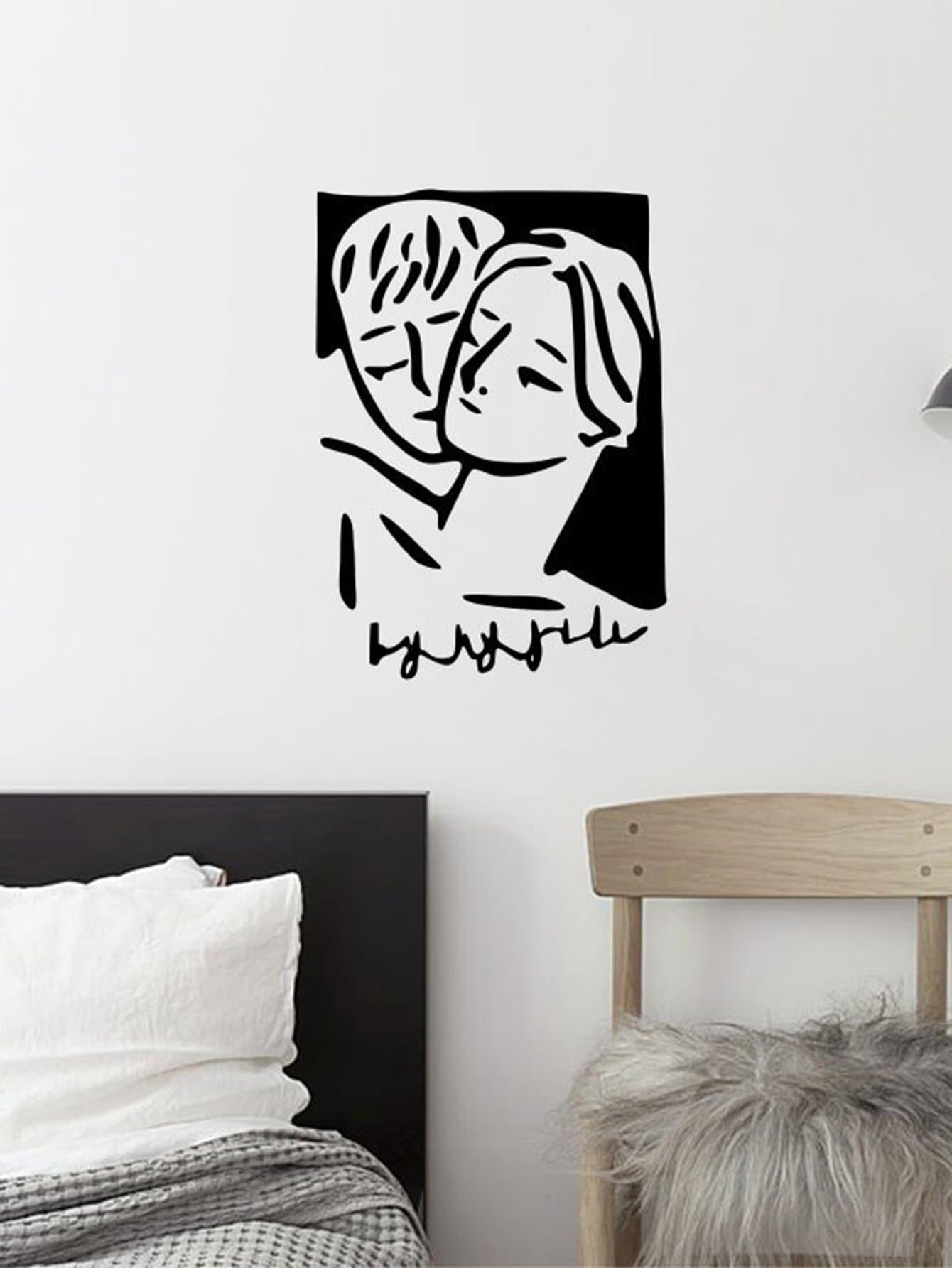 Figure Print Wall Sticker frill trim pleated bardot top