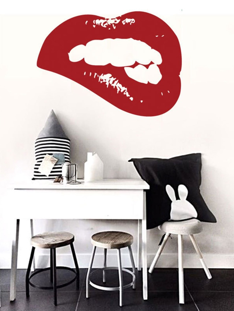 Lip Print Wall Sticker