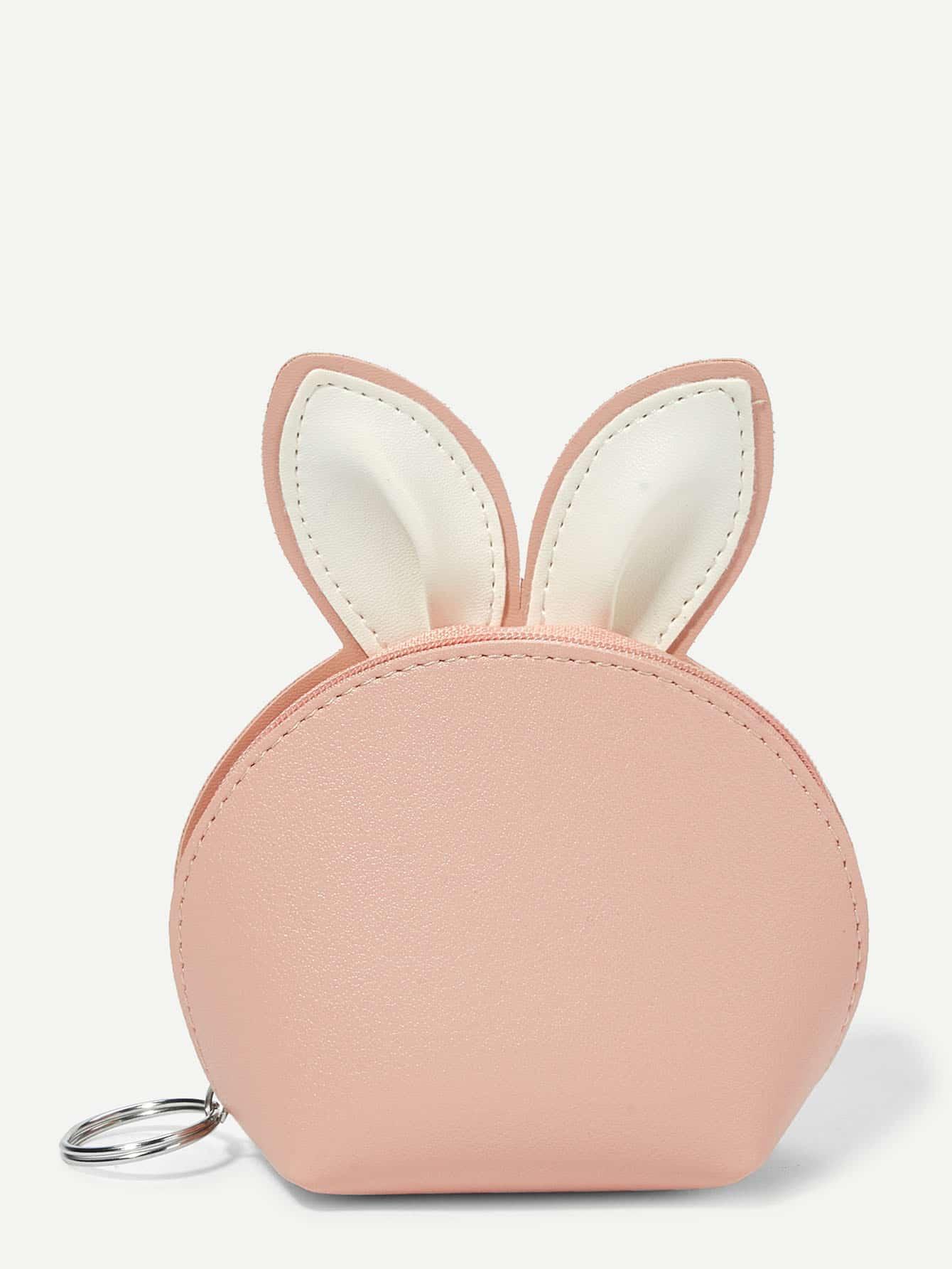 Girls Rabbit Ear Zipper Wallet